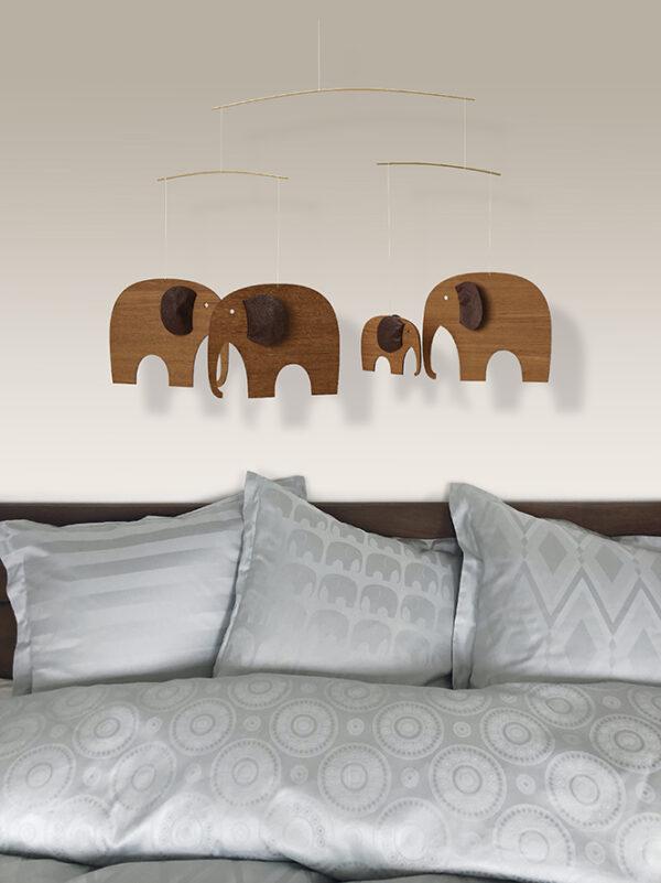 Sengetøj med elefanter